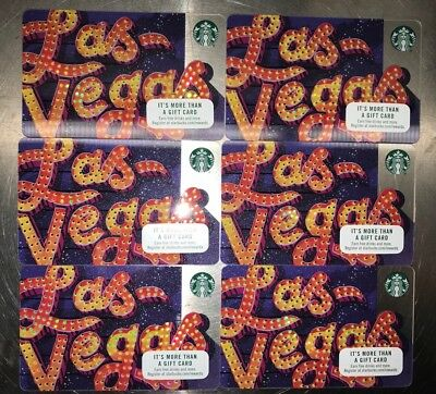 Starbucks Gift Cards From LAS VEGAS Collectors Items. WIN 6 Brand New Cards 🎰🎲