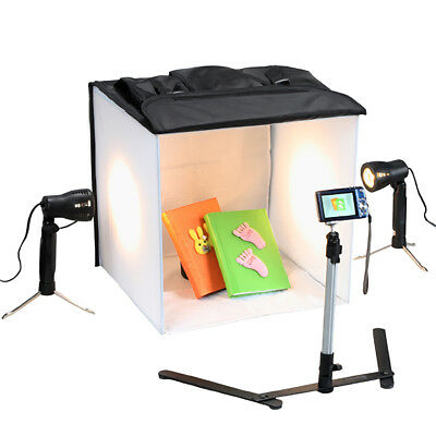 16 Inch Studio In a Box Light Tent Cube with Lights Seamless Background