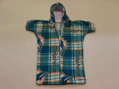 NHM NFL MIAMI DOLPHINS PRINTED FLEECE BABY BUNTING COAT Newborn to 6 Months