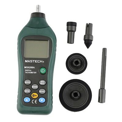 MS6208A Contact Digital Tachometer RPM Meter Rotation Speed 50-19999RPM G#