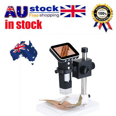 1000X HD Portable USB Digital Microscope Camera with 3.5'' LCD Screen + Stand XP