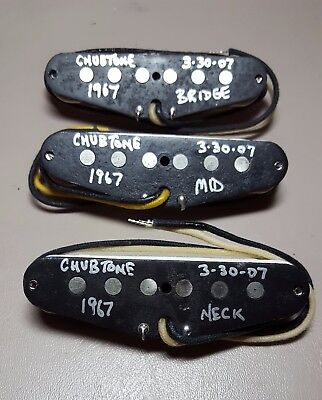 Chubtone 1967 Hand Wound Boutique Stratocaster Pickups Hard To Find