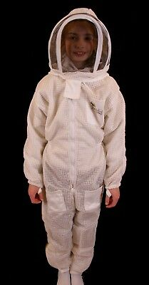 Child's Beekeeping Ventilated Suit with Fencing Veil - S