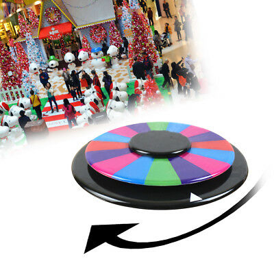 "12"" Spinning Prize Wheel Tabletop Fortune Carnival Xmas Party Game Multi Color"