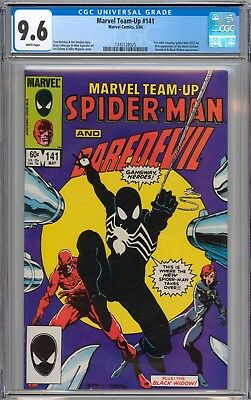 Marvel Team Up #141 CGC 9.6 NM+ 1st Black Costume Spider-Man WHITE Pages