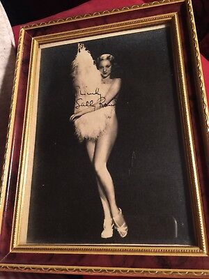 Sally Rand Signed Picture In Frame