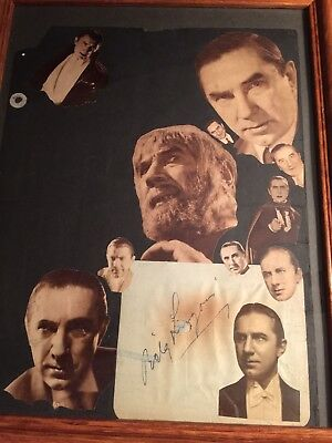 Bela Lugosi Signed Cut With Picture In Frame