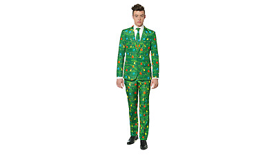 :NEW: Adult SuitMeister Christmas Party Costume 3pc Suit Chrismas Tree