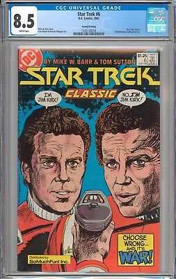 Star Trek #6 CGC 8.5 VF+ RARE 2nd Highest Graded So Much Fun Variant WHITE Pages