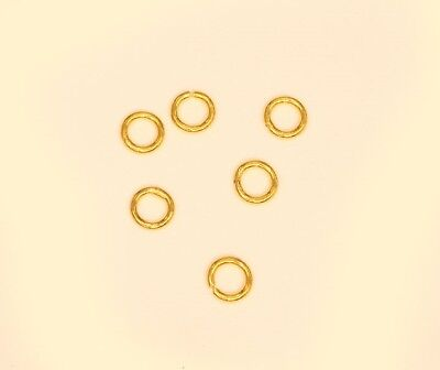 24k solid gold 1 PC 5 OR  6 mm   Open or Closed  jump ring  2 mm thickess #11