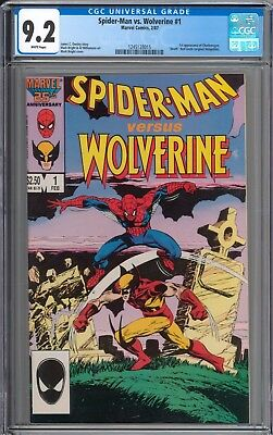 Spider-Man Vs. Wolverine #1 CGC 9.2 NM- WHITE Pages New Case
