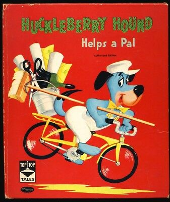 1960 HUCKLEBERRY HOUND #2467 Authorized TOP TOP TALES Edition HANNA BARBERA