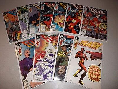 Flash #34-44  (Full Lot of 11)  DC Comics 1987 Series, Ave. FN