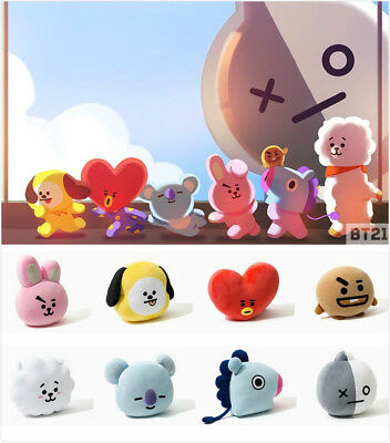 NEW BTS BT21 Cute Plush Toy SHOOKY TATA Pillow Stuffed Doll Sofa Cushion SUGA V