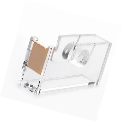 HBlife Acrylic Gold Tape Dispenser (4.7 x 1.3 x 2.4 inches), Modern Design Offic