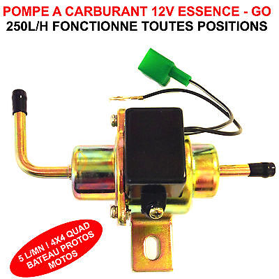 Pompe A Carburant 12V 250L/h Speciale Moto Harley Goldwing Buell Bmw Quad Atv