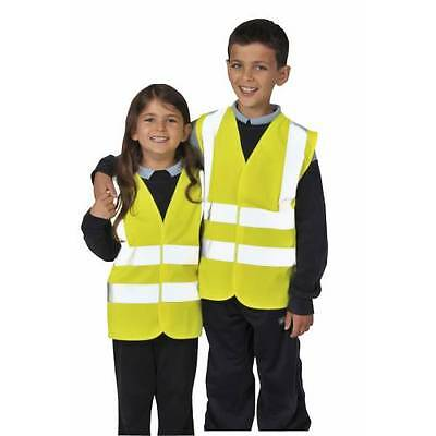 Junior Kids Hi Vis Viz Visibility Safety Vest / Jacket Waistcoat - All Sizes