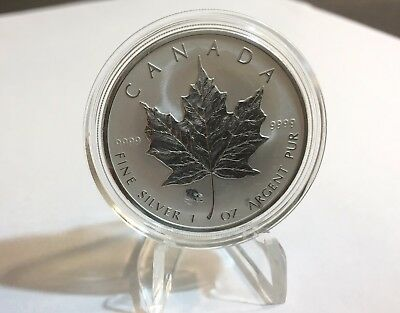 2008 Canada Canadian Silver Maple Leaf Lunar Rat Privy 1 oz Coin in Capsule