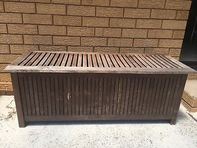 Timber Outdoor Bench with Storage