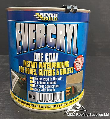 Everbuild Evercryl One Coat Fibre Based Instant Roof Repair Compound 1Kg