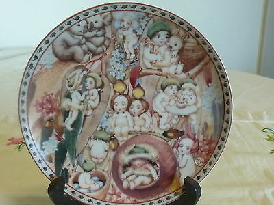 "Rare Initial Proof Run May Gibbs Gumnut Babies Plate ""bush Baby Gathering"" 1995"
