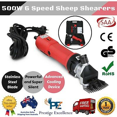 500W Electric Sheep Shears Goats Alpaca Shearing Clipper Farm Shearers Clippers