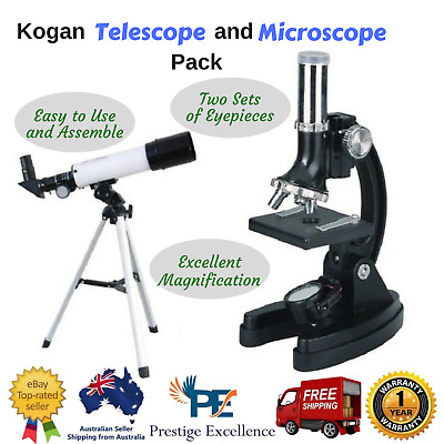 Kogan Telescope and Microscope Pack Ideal for Children - Includes Accessories