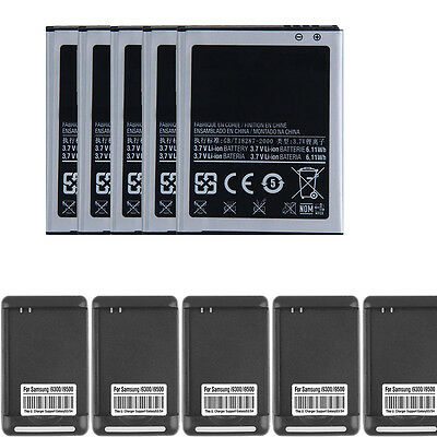 LOT new 2100mAh OEM Battery+Charger For Samsung Galaxy S3 i9300 SPH-L710 T999