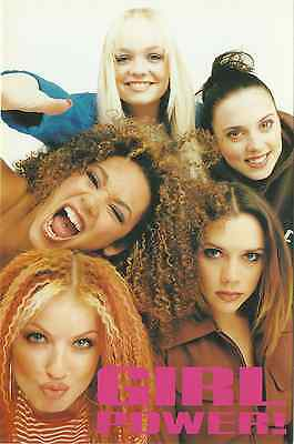 SPICE GIRLS group upright picture 1997 LARGE POSTCARD number 954 rare NEW