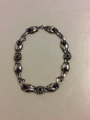 Georg Jensen Silver Necklace with Lapis Lazuli from the 1930's No. 1