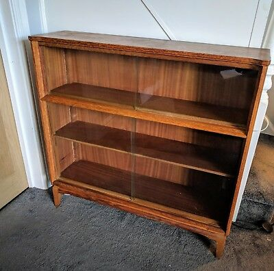 Vintage Mid Century Bookcase/Display Cabinet by Lebus Link Furniture 1960's