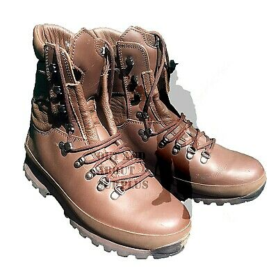 Men's Altberg Brown Leather Army Boots Combat Cadet Patrol British Army Surplus