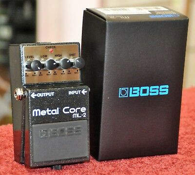 Boss ML-2 Metal Core Distortion Electric Guitar Effects Pedal ML2 - Free Ship!