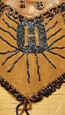Native American Beaded Pouches Great Lakes 1896-1914