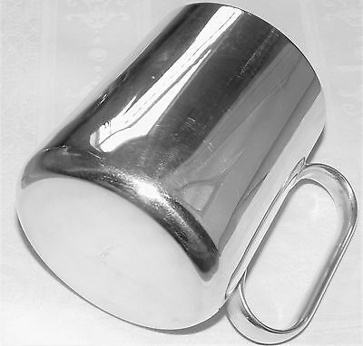 """20th Century Silver Plated Pint Mug Maker """"HB"""" Super Condition"""