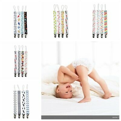 Lovely 4pcs/Set Dummy Clip Soother Chain Holders Pacifier Clips Baby Teethers