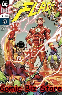 Flash #36 (2017) 1St Printing Variant Cover Dc Universe Rebirth Bagged & Boarded