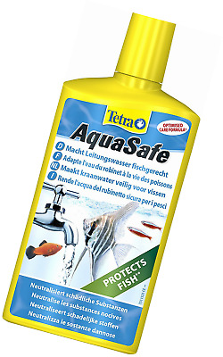 Tetra AquaSafe Water Conditioner, 500ml Healthy Water For Fish And Plants
