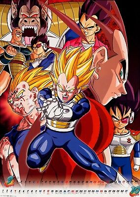 Poster A3 Dragon Ball Z Vegeta Evolucion / Vegeta Evolution Manga Anime 02