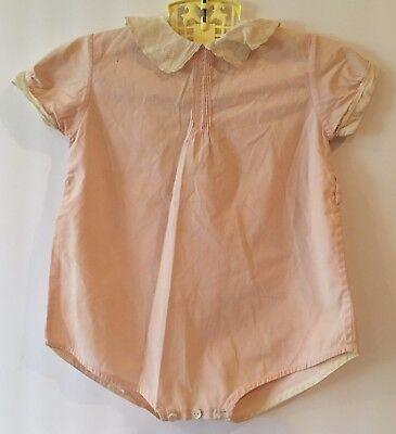 Vintage Best & Co Liliputian Bazaar Pink Infant Baby 1 Piece Outfit Romper w Tag