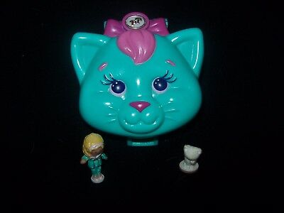 EUC 100 % Complete Polly Pocket Cuddly Kitty 1993