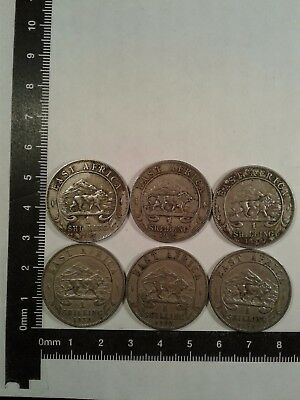 Lot Of 9 Coins East Africa *
