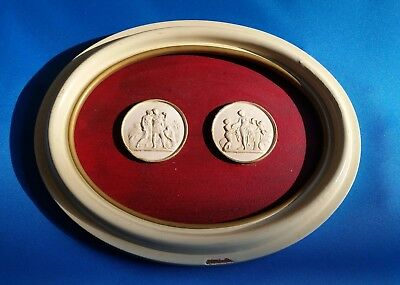 Pair of Intaglio Cameo Tassie in Oval Frame – Grand Tour
