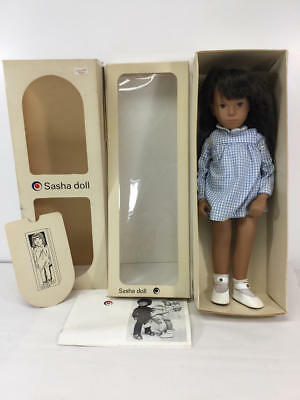 Brunette Gingham Sasha Doll In Original Box