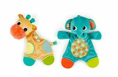 Baby toy Snuggle Teether blankie elephant giraffe ( Free Shipping )