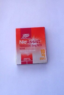 NICASSIST 10mg / 15mg / 25mg  Patches X 7  (same manufacturer as nicorette)