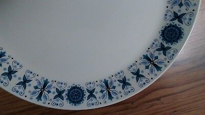Vintage Johnson Bros Ironstone Snowhite 25cm Dinner Plate Engadine VGC