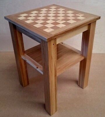 Chess Table Handmade in Solid White Oak Bespoke Crafted Coffee Table Side Table