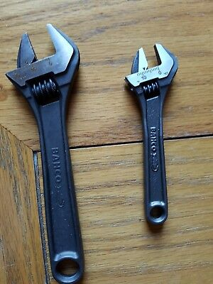 Bahco adjustable spanner set of 2..  4 inch & 6 inch
