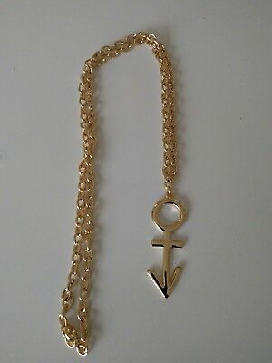 Prince Nude Tour Early Symbol Necklace 1991 Official NPG Androgyny Rare Gold